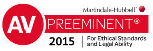 AV Preeminent Lawyer 2015 Award