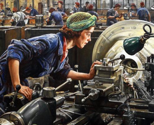 Ruby Loftus Breech Ring 1943 Art